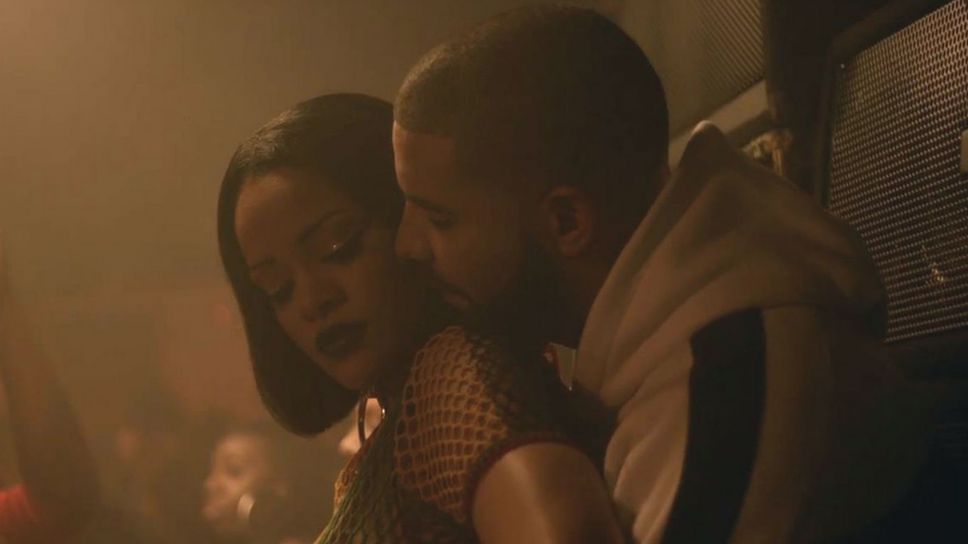 Rihanna and Drake get intimate in their new music video 'Work'