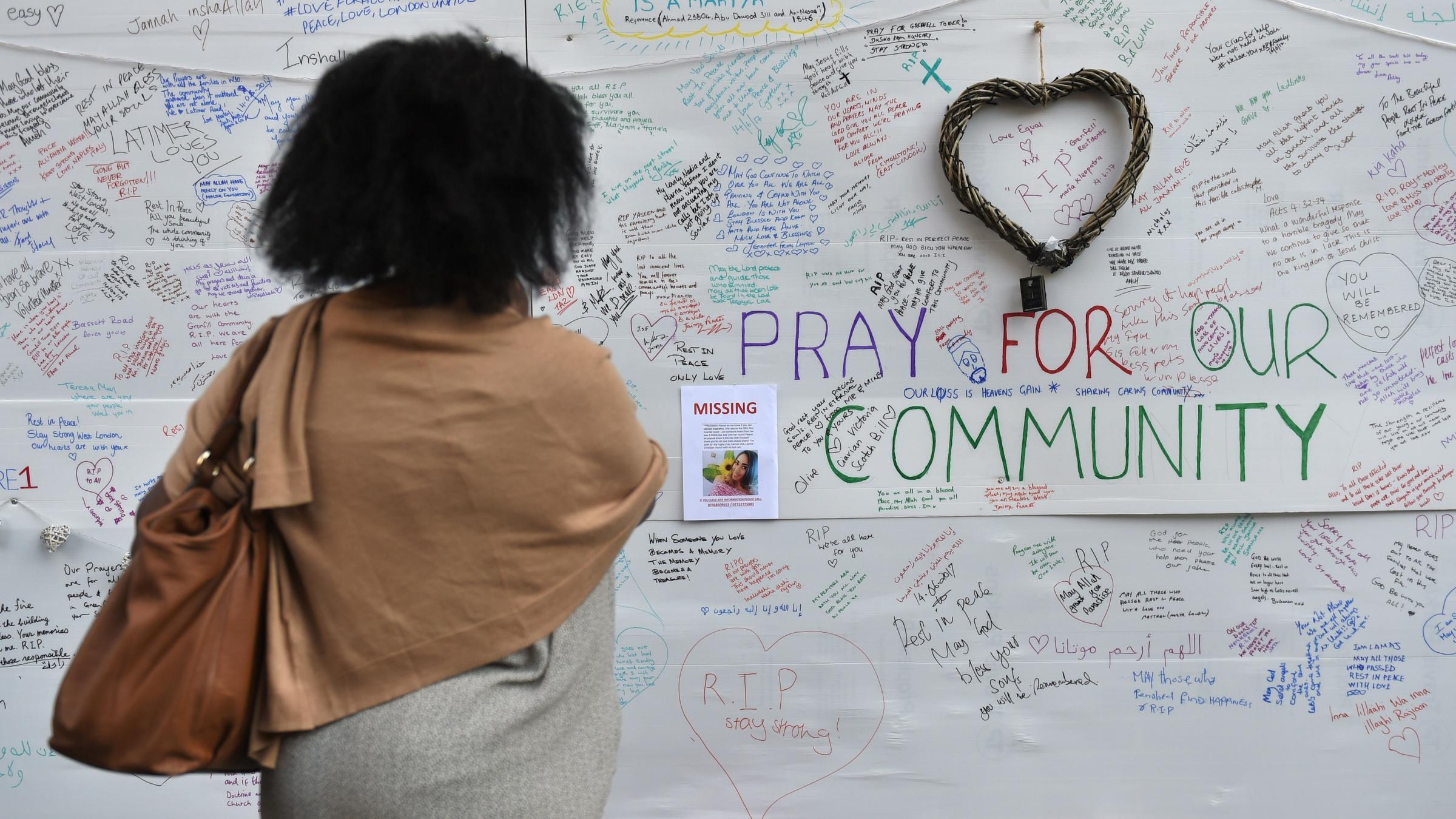 London mayor at church near London fire tragedy